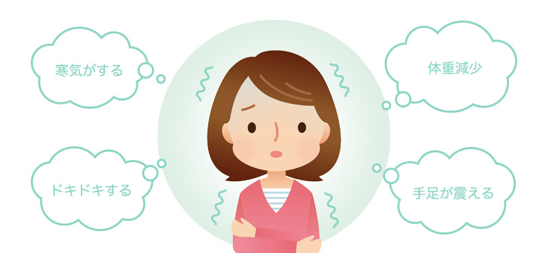 甲状腺機能亢進症の症状